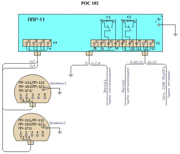 Схема электрическая внешних